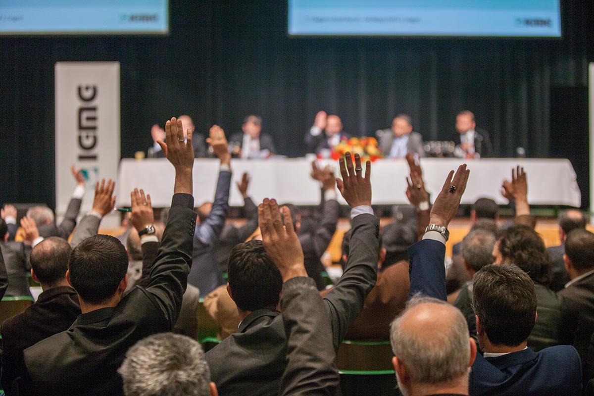 7 Delegiertenversammlung  7 Olagan Kongre  Vorsitzender  Genel Baskan  Hagen 04.05.2014 (9)